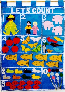 blue counting chart