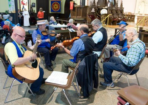 Bristol Old Tyme Fiddlers performing at Annual Shut in Service