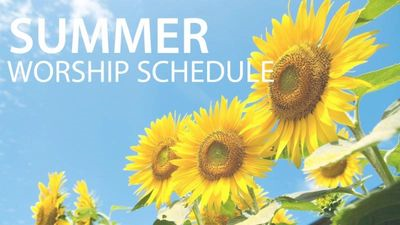 summer-worship-schedule